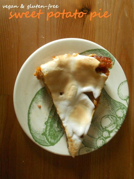 Sweet Potato Pie (V, GF)