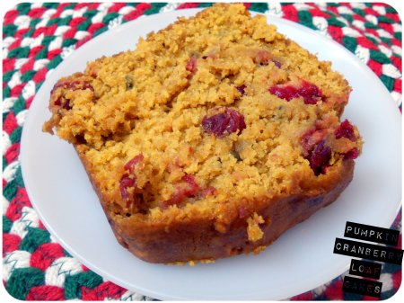 Pumpkin Cranberry Loaf Cakes