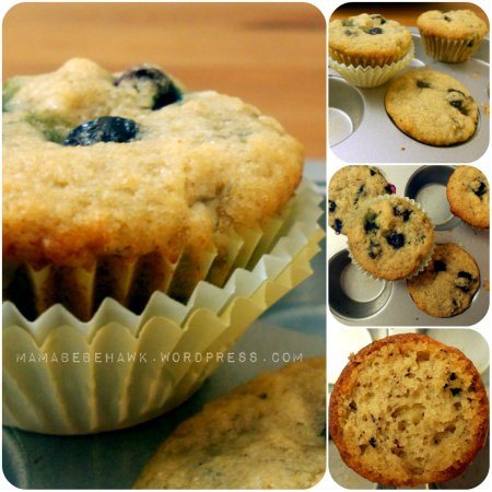 Blueberry Banana Muffins (v, gf, sf)