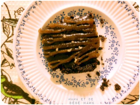 Chocolate Hazelnut Tart w/ Hazelnut Butter Caramel Sauce