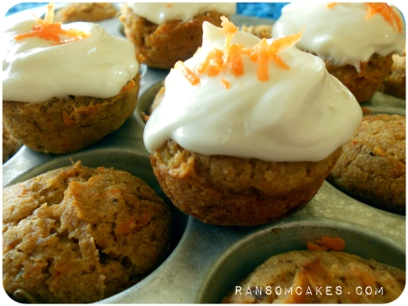 Mini Sweet Potato Carrot Cakes