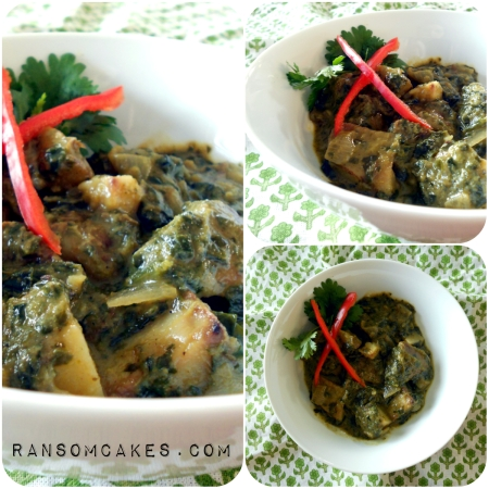 Roasted Potato and Spinach Curry