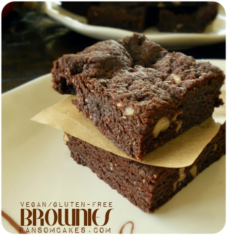 Nutty Fudgy Teff Flour Brownies