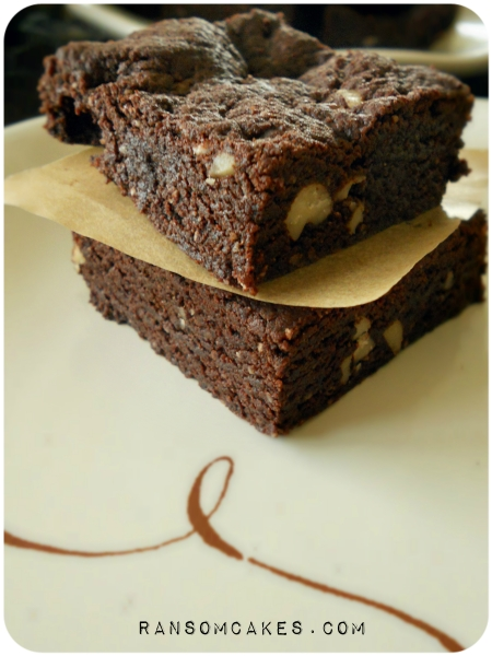 Nutty Fudgy Teff Flour Brownies - Vegan & Gluten-free via ransomcakes.com